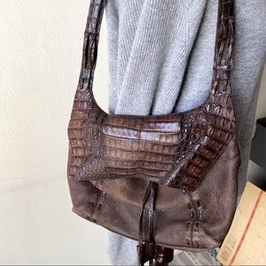 Nancy Gonzalez Crocodile Brown Purse Handbag